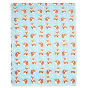 Fox Woodland Animal Throw Blanket